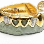 heart-shaped gem stone custom grillz on budget