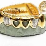 heart-shaped gem stone custom grillz on budget