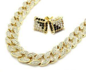 14K Cuban Rope Gold Chain Bracelet