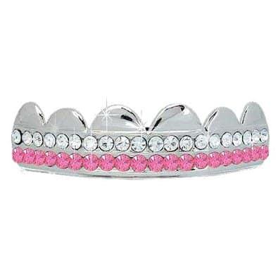 Pink Platinum Silver Grillz