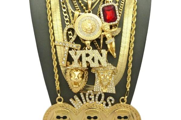 Pharaoh 9 Piece Necklace Set
