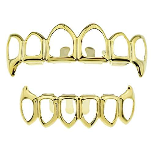 The 14K Open Face Vampire Teeth Hip Hop Grills