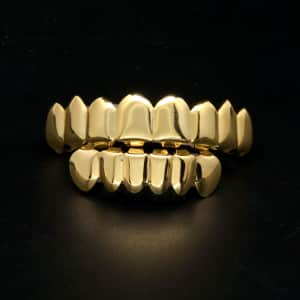 Premium Gold Grillz - 8 tooth