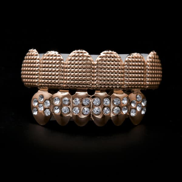 Rose Gold Grillz 24K Plated