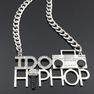 Silver 'I DO HIP HOP' chain