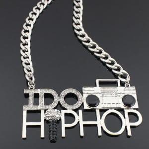 Silver 'I DO HIP HOP' chain