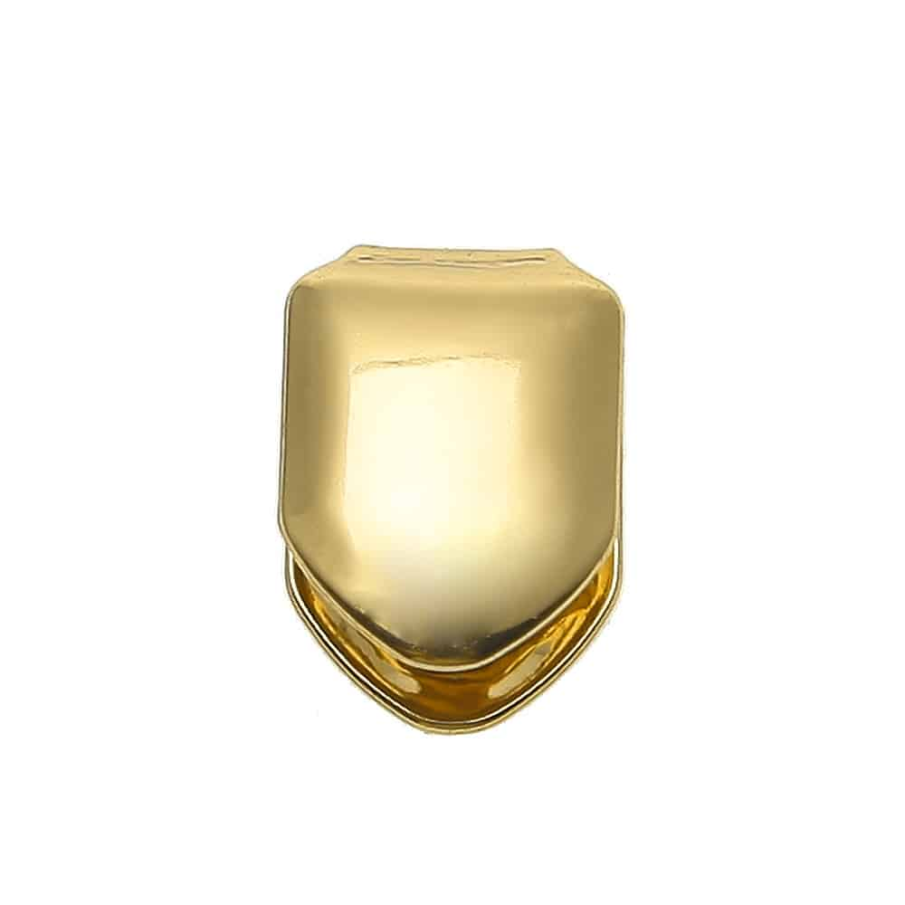 14k Gold Plated Single Tooth Cap Deez Grillz