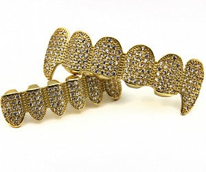 Luxury 18K Gold Iced Out Grillz
