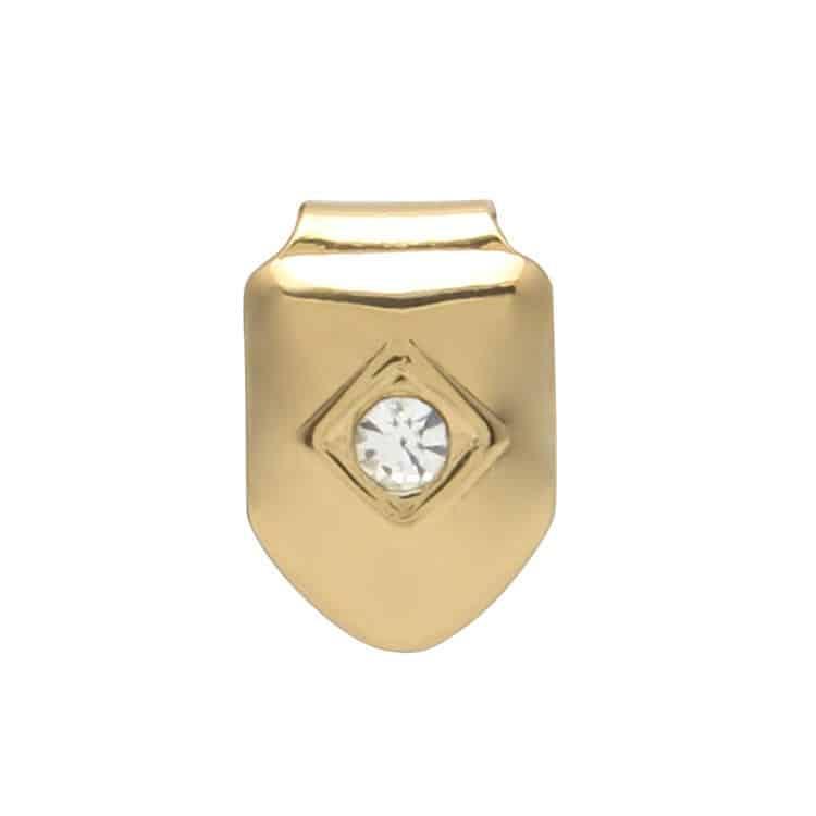 14k Gold Plated Cz Diamond Single Tooth Cap Deez Grillz