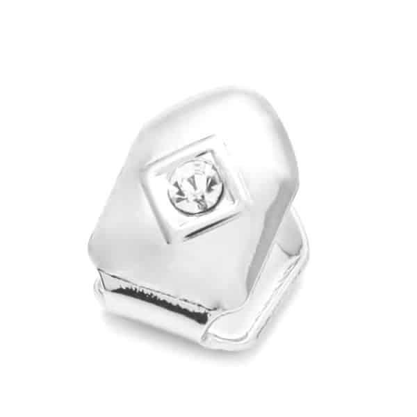 Silver cap CZ diamond