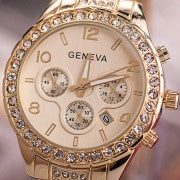 14K Gold Iced Out Watch