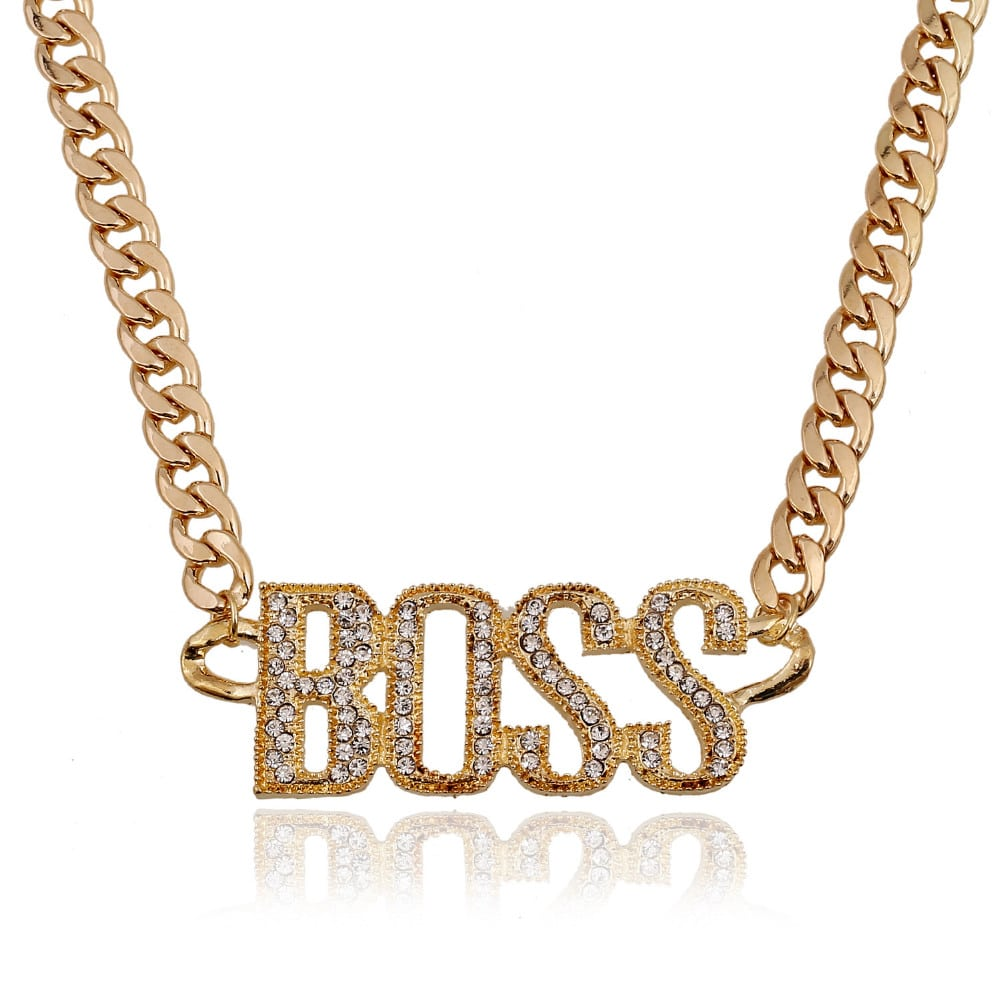 Iced Out 14K Gold 'BOSS' Chain - Deez Grillz