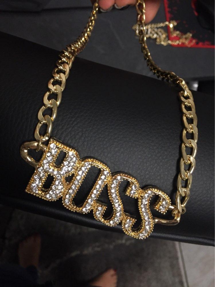 Iced Out 14K Gold 'BOSS' Chain - Deez Grillz