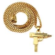 Uzi Gold Pendant