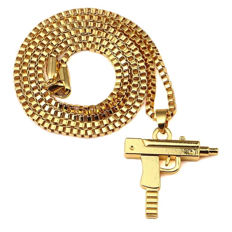 18k gold plated uzi pendant deez grillz uzi gold pendant aloadofball Images