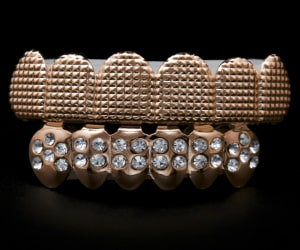 Zirconia Diamond Top Bottom Set Grillz