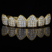 Micro Pave Grillz Cluster Grillz 18k Gold Luxury For