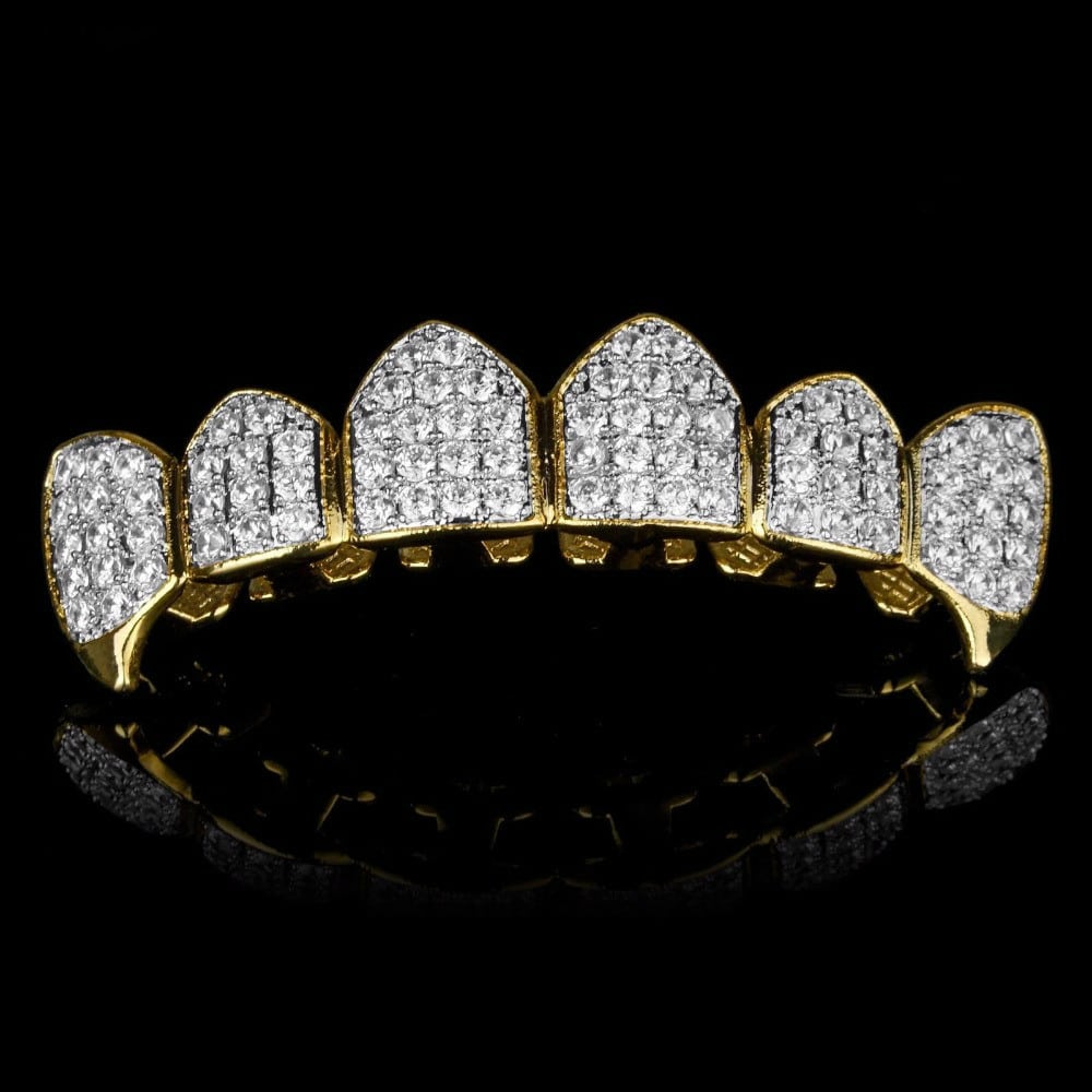 Simulated Diamond Grillz | 18K Gold Plated Luxury for only ...
