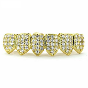 Luxury 18K Gold Plated CZ