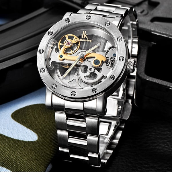 Stainless Steel Mechanical Watch