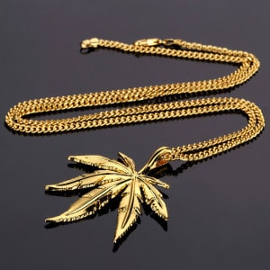 Weed Pendant and Chain